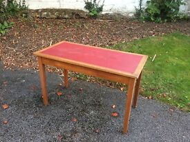 Writing table (vintage, solid wood piece)