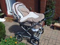 Silver Cross Classic sleepover Pram - buggy Plus Moses rocker , and all covers.