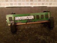 Samsung 4GB 1Rx8 1.5V 240-Pin DIMM PC3-12800U-11-12-A1 1600MHz DDR3 Desktop PC Memory