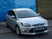 2011 Ford Focus 1.6 TDCi Titanium Diesel 5door silver full service history 2xkeys MOT new shape 2012
