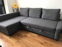 Sofa Bed FRIHETEN (Ikea) with storage, in great condition, available NOW
