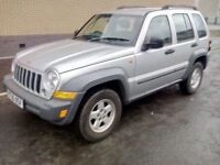 jeep cherokee crd sport automatic turbo diesel 2005 05 plate