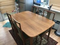 Expandable German made wooden Dinning table