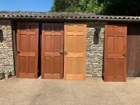 Four internal wooden panel doors