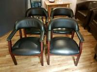 4 good quality leather dining / kitchen chairs