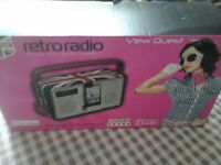 Brand new in box Union Jack limited edition retro radio by View Quest.