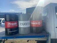 45 gallon drums /barrels fire bin/barbecue/seat