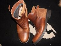 camper alicante leather ankle boots 7s