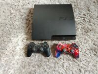 PS3 Slim Black 320GB With 2 Controllers And 17 Games