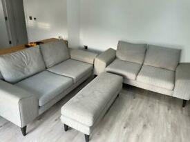 Used Grey DFS French Connection Sofa Set