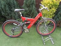 mens raleigh max mountain bike with d-lock and lights £79.00