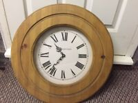 Large Solid Pine Wooden Clock