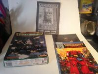 Collection of Warhammer 40K materials from early in the games development
