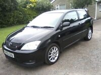 TOYOTA COROLLA 1-8 VVTL-I. T SPORT 6-SPEED 3-DOOR 2003 (53 PLATE) MARCH 2018 MOT, VERY ATTRACTIVE.