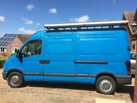 Vauxhall Movano 2.5l 2003 Diesel Van-101k, high-top MWB, roof-rack, manual, ideal camper conversion