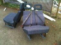 Vehicle Seats with integral seat belts