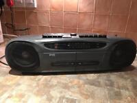 Double tape deck radio!