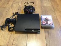 PlayStation 3 with controller, Turtle beach headset and games