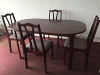 Wooden Dining Table and 4 Chairs £100