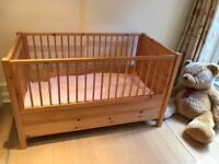 Organic 100% Metal Free Pine Wood Cot Bed from Austria