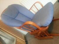 Dutailier Nursing Breastfeeding Gliding Chair in Blue Great Condition