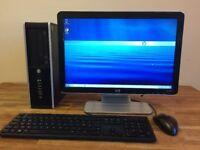 VERY FAST HP 8300 - i5 3470 / 8GB Ram / 500GB / WiFi / USB 3.0 + HP Monitor Desktop PC Computer