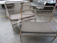 2 Seater Cane Bench
