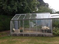 Greenhouse 12ft x 8ft, opening roof vents, aluminium frame