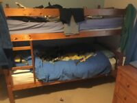 Bunk beds, solid pine & 2 pine drawer chests *MUST GO THIS WEEKEND* best offer secures