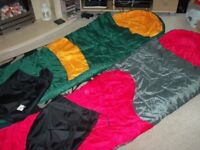 2 x mummy sleeping bags 1 red & 1 green(can deliver hull area)ono
