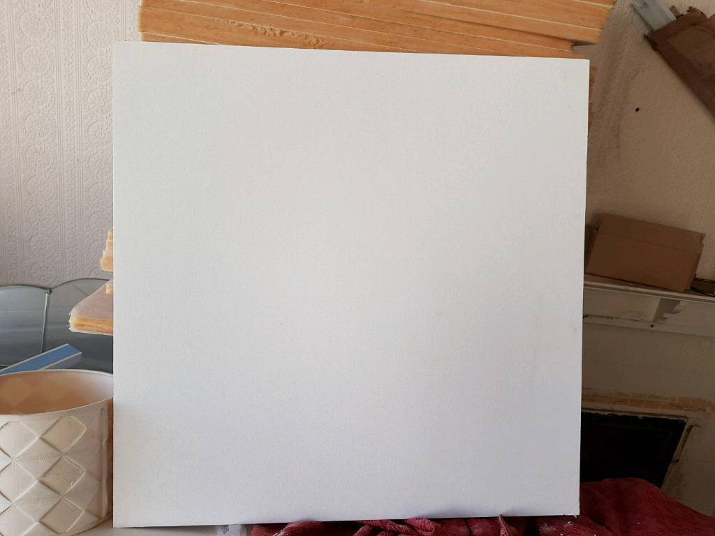 Pack of 40 plain white ceiling tiles 60cmx60cmx15mm in blackpool pack of 40 plain white ceiling tiles 60cmx60cmx15mm dailygadgetfo Image collections