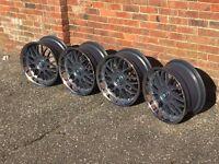 Keskin deep dish alloy wheels, 5x112 5x120, Bmw Mercedes Audi Vw staggered