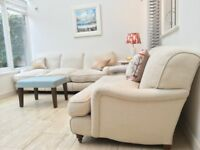 Beautiful Linen & Cotton Sofas with Feather cushions - 2 seater and 3 seater