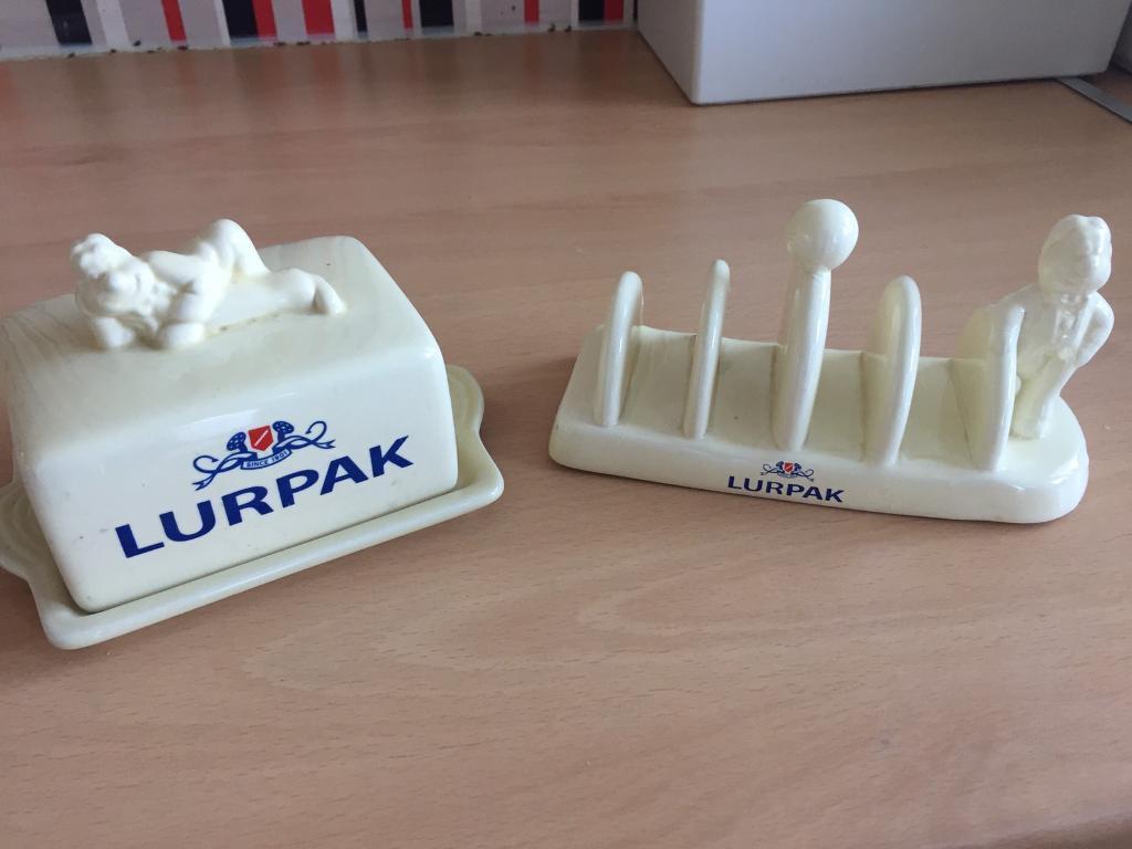 Lurpak butter dish and toast rack