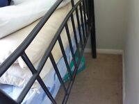 Metal Single Bed, with detachable side