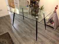 Wayfair Maryjo Glass Dining Room Table
