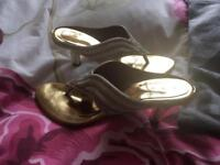 Designer gold shoes