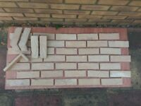 Brick tile - slips TOSCANE-mix brown,yellow,white flamed color ref 483A - WDF, Hand moulding