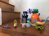 Imaginext Sponge Bob, Squidward and Burger Car