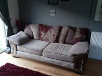 3 Seater Sofa scatter back cushions and foam seat cushions. Very good condition
