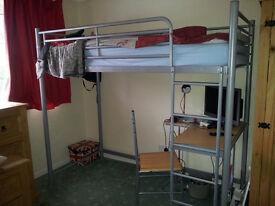 Single bed cabin style steel frame