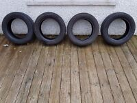 Part worn tyres 205/55 R16 . set of 4