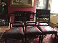 8 Antique Mahogany Dinning Chairs