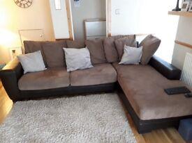 Fabric /leather sofa including cushions, smoke free home