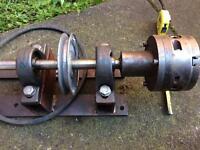 Precision chuck lathe pulley