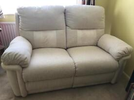 Lovely two seater manual recliner sofa