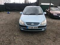 2006- HYUNDAI GETZ 1.4 CDX -5dr AUTOMATIC- LOW MILEAGE - LOW INSURANCE