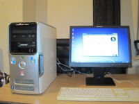 Dell tower setup. Quad-Core 2.40Ghz x 4. 4gb rams. win 7. 19 lcd. can deliver