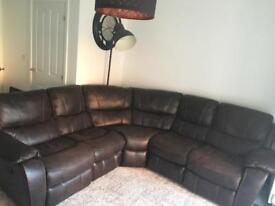 Harvey's Faux Leather Corner Sofa
