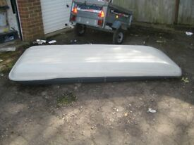 Large Roof Box 230cm Lx85cms W x33cm deep getting lower towards the front